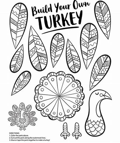 Turkey Coloring Build Pages Own Crayola Thanksgiving