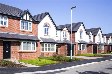 New Build Houses Uk Stock Photo Image Of House, Terraced