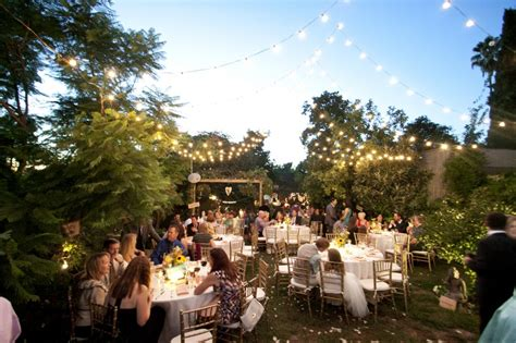 Fall Back Yard Wedding Reception