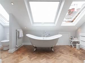 la salle de bain sous pente comment l39amenager de With salle de bain sous pente