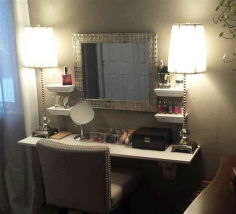 floating makeup vanity diy makeup vanity updated my projects