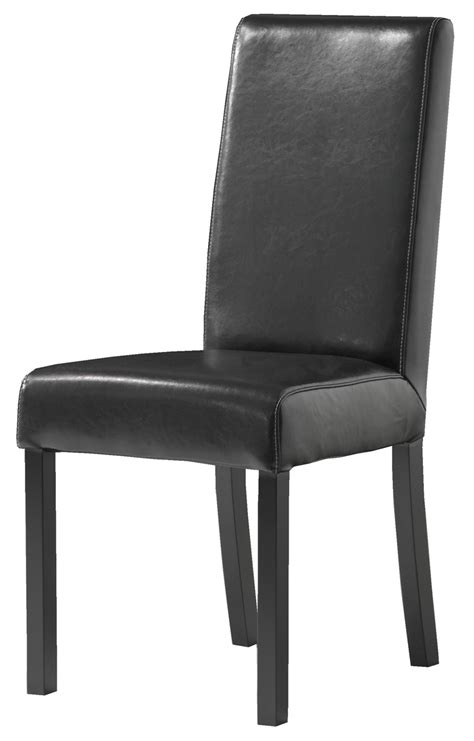 naples dining chair brown leather leg