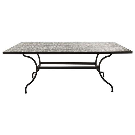 déco chambre bébé vintage table de salle à manger en métal et carreaux de ciment l