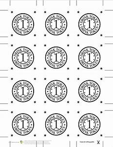 fantastic drink token template gallery resume ideas With drink token template