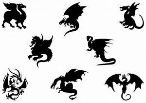 Silhouette Dragon Designs - ClipArt Best