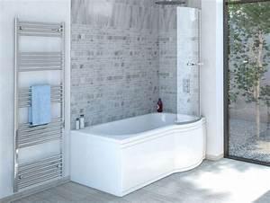 Duschbadewanne 170x85 Cm R Mit Badewannenaufsatz