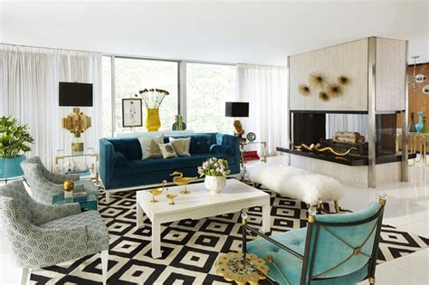 Living Rooms By Jonathan Adler That Bring Color To Winter