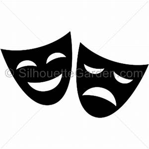 Drama mask silhouette clip art. Download free versions of ...