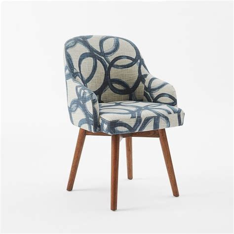west elm saddle chair saddle office chair brushstroke navy flax midcentury