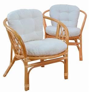 Sessel Mit Massagefunktion : 2x rattansessel h135 korbsessel sessel mit sitzkissen honigfarben 82x66x68cm ~ Indierocktalk.com Haus und Dekorationen