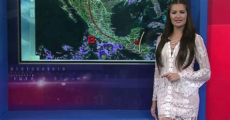 Nearly-naked Weather Girl Sparks Outrage By Presenting