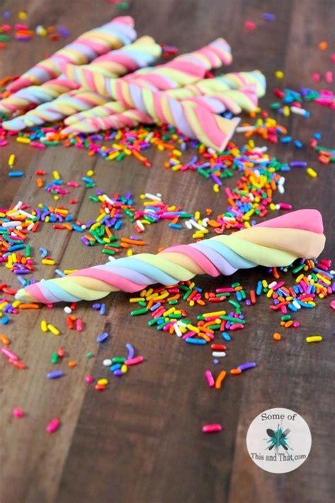 diy edible unicorn horns