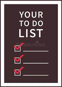 To do list template vector illustration stock vector for Time management to do list template