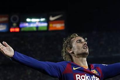 Griezmann Antoine Celebration Barcelona Goal Lebron Baltana