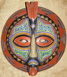 African Masks - Baluba Mask 33 - Front - Click for a more ...