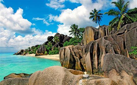 seychelles beach beaches sand pink