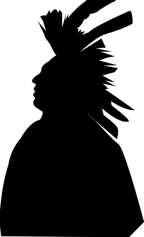 Native American Man Silhouette ©2014 LR Digital Designs