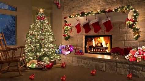 christmas tv studio set  virtual green screen background