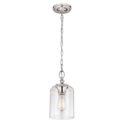 mini chain ceiling pendant light on nickel fitting clear