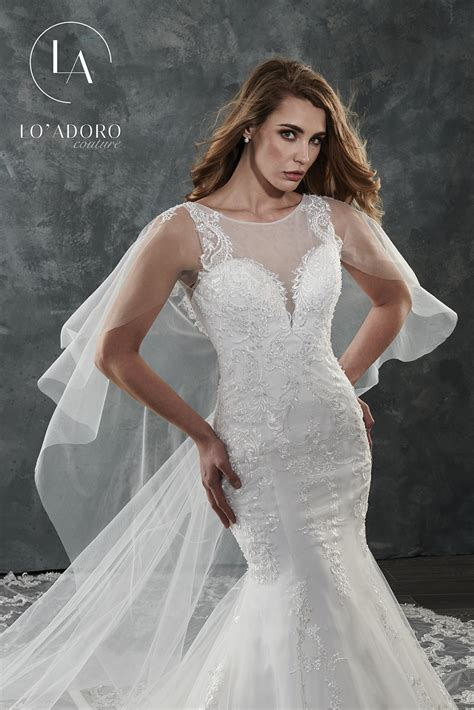 High Neckline Mermaid Couture Bridal Dresses In White