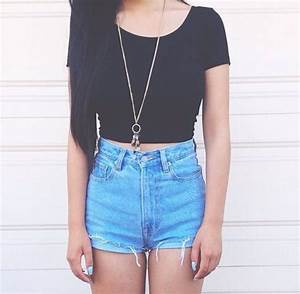 fashion me gusta shorts summer style black Teen outfit ...