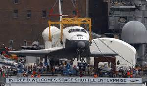 The Space Shuttle lands in Manhattan! Enterprise arrives at Intrepid to begin its new life as a ...
