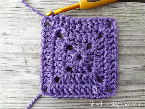how to crochet square fiber flux how to crochet a solid granny square