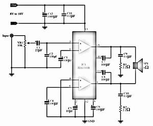 Ic Amplifier With Ha13118 Diagram
