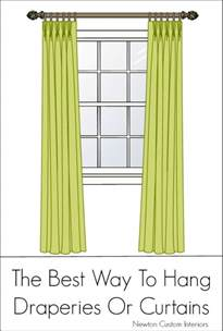 the best way to hang draperies or curtains newton custom