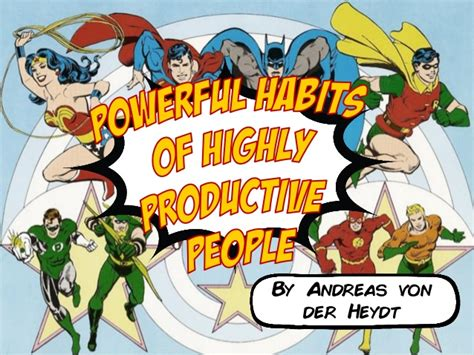 Powerful Habits Of Highly Productive People