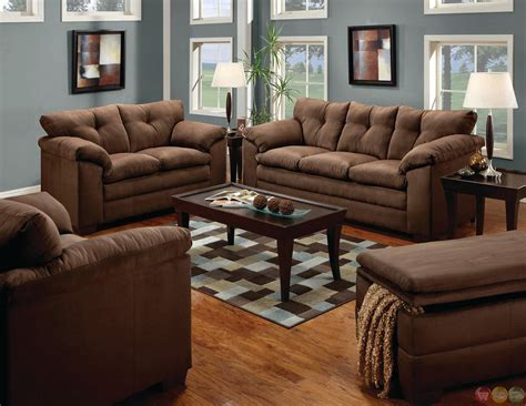 Microfiber And Loveseat Sets by Simmons Brown Microfiber Sofa And Loveseat Set