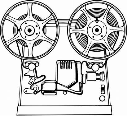 Projector Film Clipart Vector Cinema Drawing Transparent