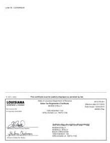 Louisiana Sales Tax Resale Certificate