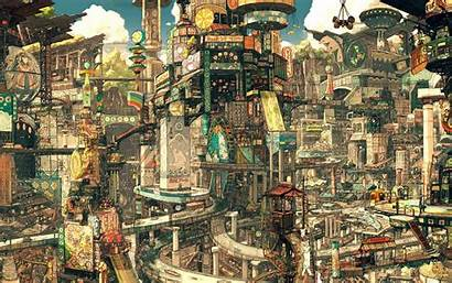Fantasy Asian Cityscape Wallpapers Asia