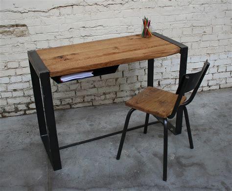 bureau type industriel bureau br 39 bu003 giani desmet meubles indus bois métal