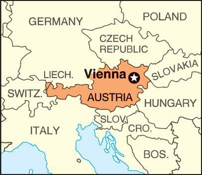 Vienna: location - Students   Britannica Kids   Homework Help