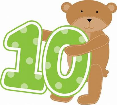Numbers Clipart Bear Printable Letters Clip Teddy