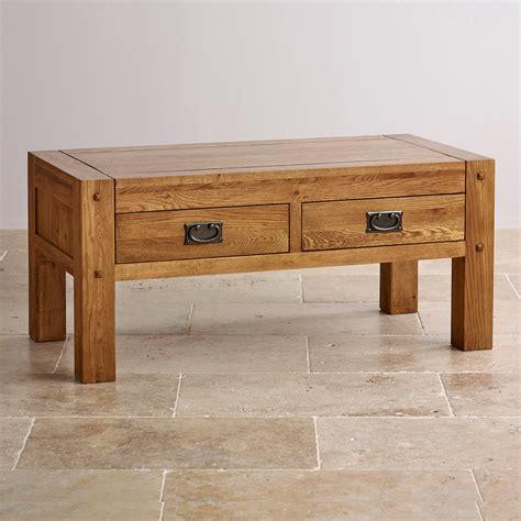 quercus coffee table rustic solid oak oak furniture land