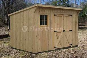 7 x 12 modern storage lean to garden shed plans