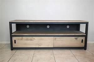 Ensemble Meuble Tv Et Table Basse : table basse meuble tv bois ~ Teatrodelosmanantiales.com Idées de Décoration