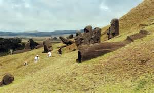 Moai Statues Easter Island Quarry