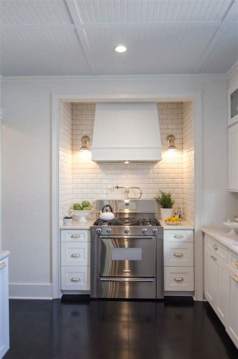 stove alcove transitional kitchen