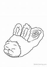Bun Shopkins Coloring Pages Slipper Draw Drawing Step Tutorials Printable sketch template