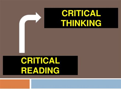 Readinglesson 6 Critical Reading As Looking For Ways Of Thinking