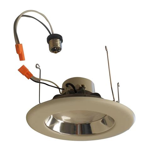 home depot can lights electric 6 in white led recessed gimbal trim