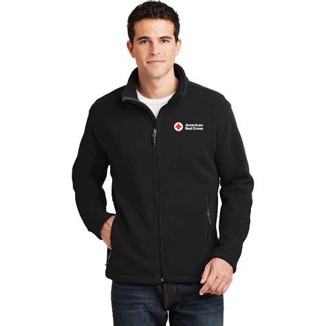 mens fleece jacket red cross store