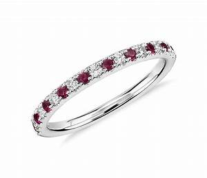 ruby and diamond ring in 18k white gold tanary jewelry With wedding rings with rubies and diamonds