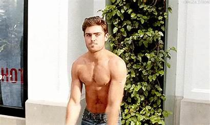 Efron Zac Shirtless Naked Wet Half