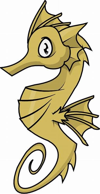 Sea Seahorse Clipart Horse Clip Under Drawing