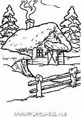Coloring Coloriage Noel Window Montagne Cottage Sheets Malvorlagen Coloriages Weihnachten Vorlagen Drawing Colouring Colorier Chalets Maisons Books Ausmalbilder Kostenlose Patterns sketch template